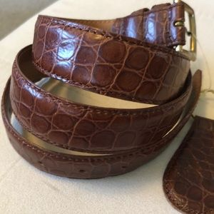 "Vierto Uomo alligator leather 36"" Belt"